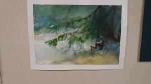 aquarelle de Sylvie friedel (ati sous le pin)