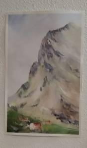 aquarelle de sylvie friedel montagne