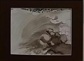 aquarelle l'eau du Risse brigitte broussky