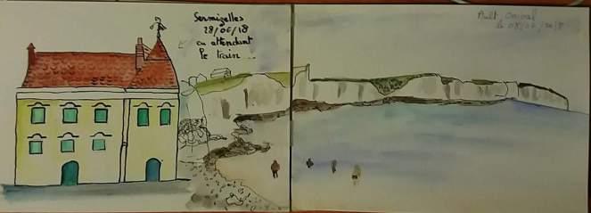 aquarelle sermizelles (gare)