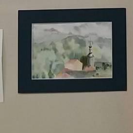 aquarelle village d'onnion brigitte broussky