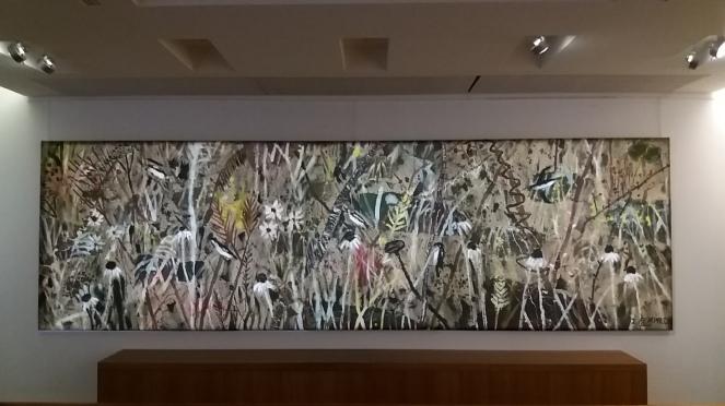 automne acrylique sur toile161x536 cm kim chong hak