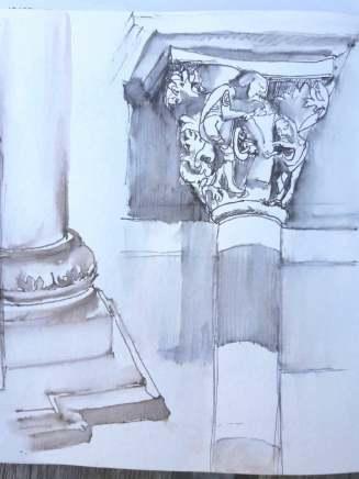 dessin sfriedel bas relief vézelay