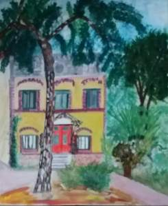 la maison au grand pin acrylique