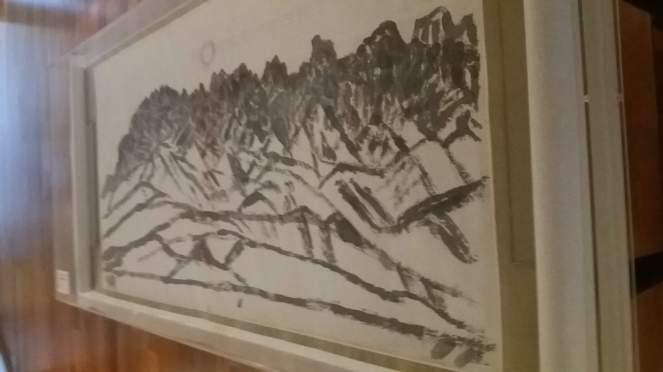 les monts séoraks aquarelle sur papier propriété de l artiste kim chong hak