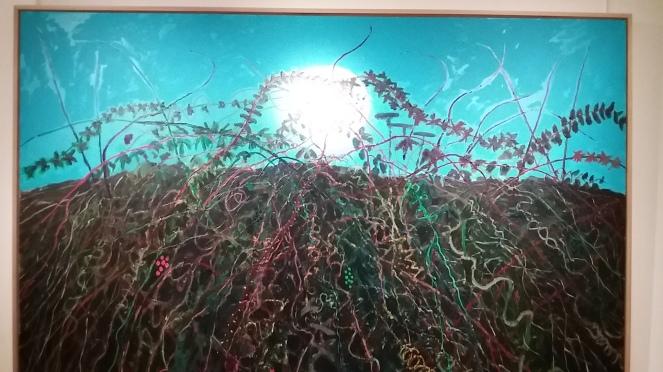 lune 2012 acrylique sur toile 181,7x291 cmkim chong hak