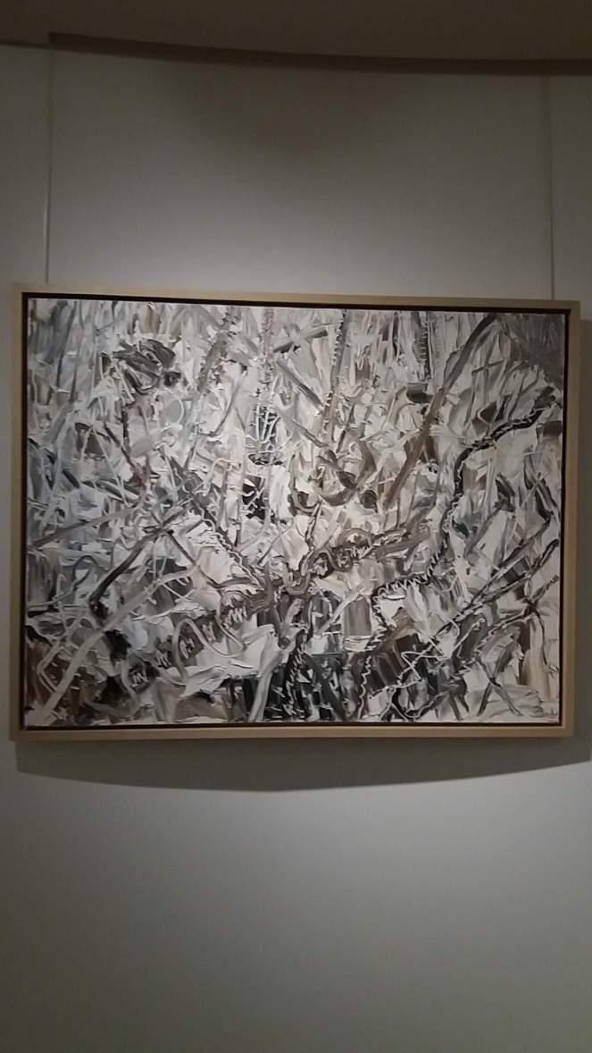mont seorak en hiver 2001 huile sur toile 91x116,7 cm kim chong hak