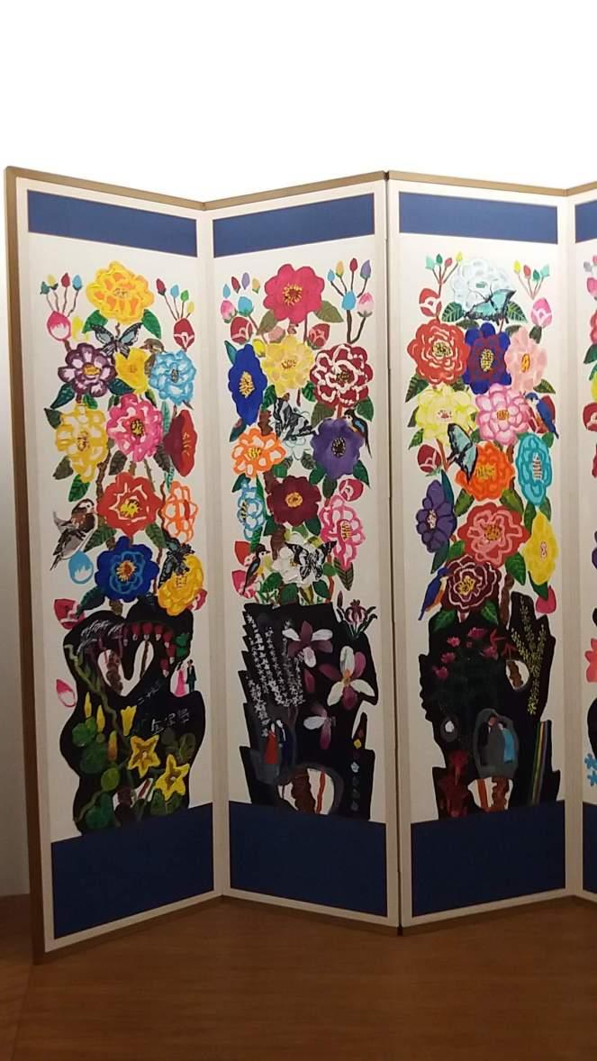 printemps kim chong hak 2006 acrylique sur papier 159x490. 2JPG