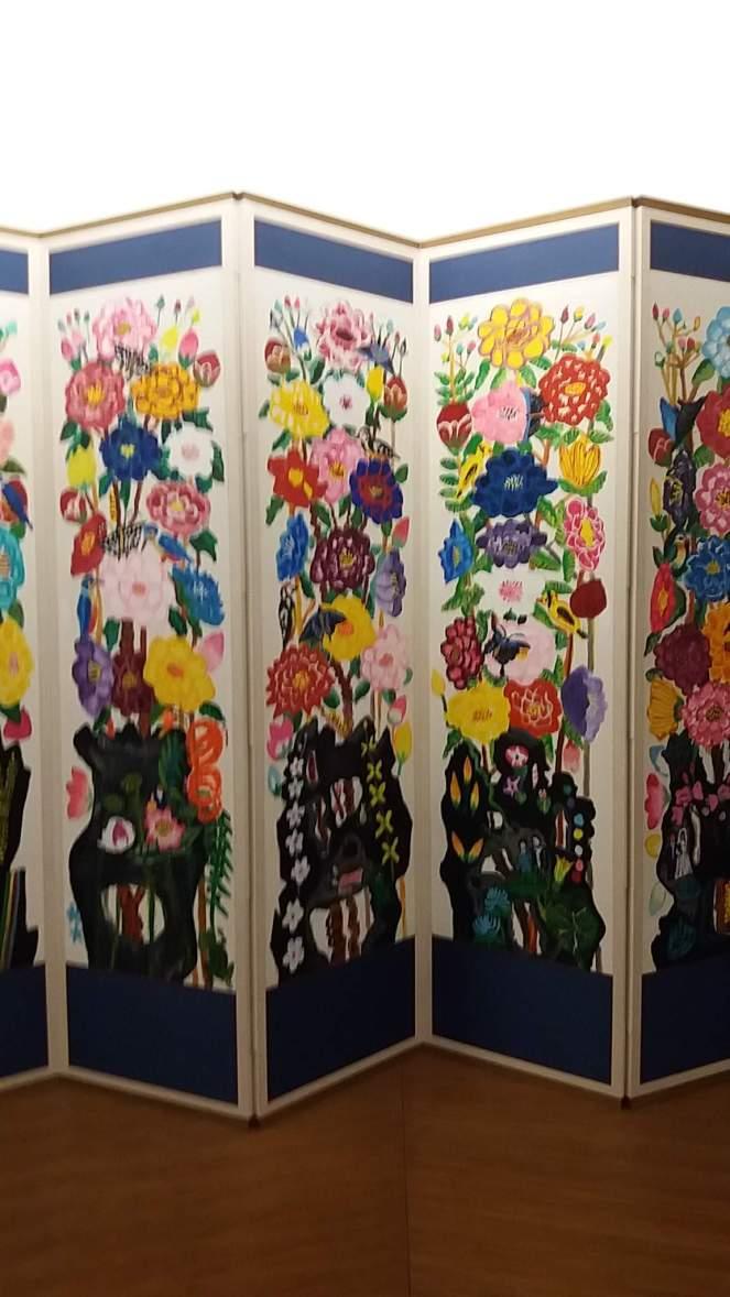 printemps kim chong hak 2006 acrylique sur papier 159x490 3