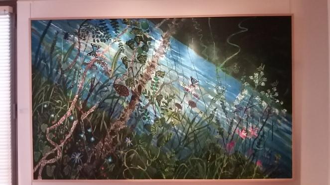 rivière 1992 acrylique sur toile 194,5x313 cm