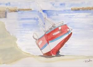 bateau rouge retr 001
