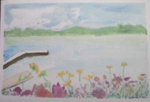 carte postale lac settons printemps