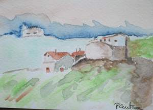 carte village de provence (ciel collines)recadrée