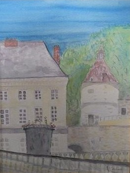 château de Grouchy aquarelle