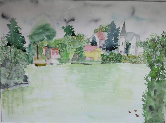 le petit lac d'enghien recadré