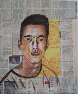 le voyageur acrylique sur toile texturée