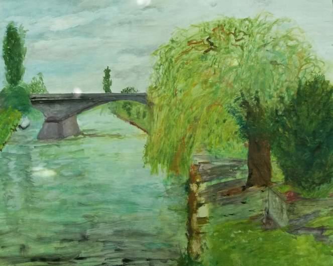pont à beaumont sur oise recadré