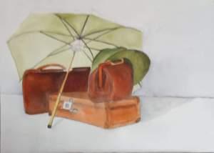 """""""nostalgie """" aquarelle pascale coutoux"""